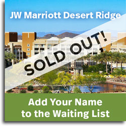 Add your name to the waiting list at the JW Marriott Phoenix Desert Ridge
